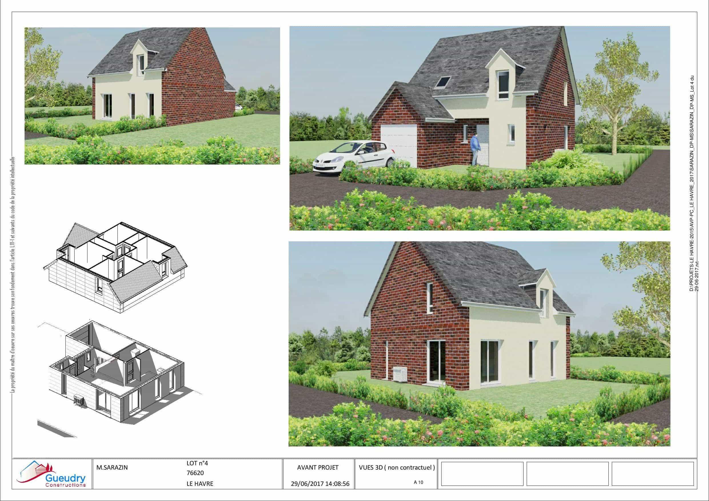 5 maisons quartier de rouelles le havre gueudry constructions. Black Bedroom Furniture Sets. Home Design Ideas