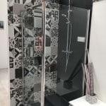 Immitation carreaux de ciment (gamme Gueudry) + panneau résine hauteur maxi 2m
