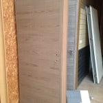 Porte intérieure avec charnières invisibles (couleur chêne blanc/noisette/brun)