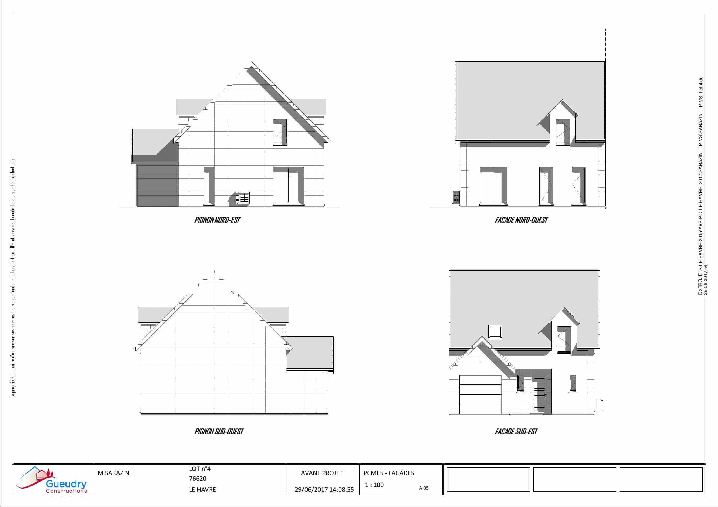 5 maisons quartier de rouelles le havre. Black Bedroom Furniture Sets. Home Design Ideas